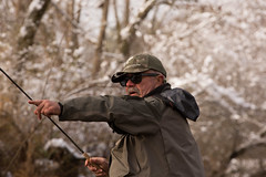 North Georgia Snow & Fly Fishing (DitchGyrl) Tags: 2017 cartecay danny ellijay fishing flyfish river snow december winter