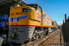 UP X-26 | GE 8500 GTEL | Utah State Railroad Museum (M.J. Scanlon) Tags: up26 up upx26 ge8500gtel ge 8500 gtel 8500gtel unionpacific utahstaterailroadmuseum display ogden utah tree sky digital merchandise commerce business wow haul outdoor outdoors move mover moving scanlon mojo canon eos engine locomotive rail railroad railway train track horsepower logistics railfanning steel wheels photo photography photographer photograph capture picture trains railfan