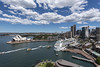 sydney harbour (Greg Rohan) Tags: ferries ferry sydneyskyline sydneyharbour harbour sydneycity sydneyoperahouse sydney operahouse nikon nikkor cruiseship boat blue sea saltwater ocean water architecture d750 2017 sky ship city bay