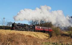 Climbing Up To Oakworth. (Neil Harvey 156) Tags: steam steamloco steamengine steamrailway railway 44871 oakworthmound oakworth keighleyworthvalleyrailway kwvr worthvalleyrailway black5 stanier lms