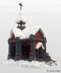 CCC - Christmas is over... (jaapxaap) Tags: lego moc christmas church winter snow cosy wonder jesus afol medieval chapel fantasy cold ice frozen jaapxaap