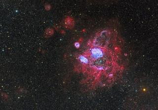 NGC 1760, aka the Angry Bee, in HaOiiiSiiRGB