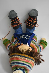"""DAVID 17"""" boy by Dearlittledo (Dearlittledoll) Tags: waldorf embroidery waldorfboy dearlittledoll dollclothing dollmaker overalls madewithmyownhands montessori mohairhair smalldoll limbeddoll"""