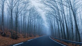 Carretera hacia las nubes