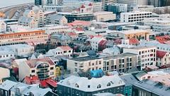 Views from hallgrimskirkja and inside. (seanaanne1289) Tags: iceland reykjavík tour city rainbow