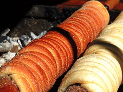 Trdelník (markb120) Tags: trdelnik spitcakecake pie grill food meal eating fare meat feed taste flavor liking palate style savor smell odor scent flavour odour charcoal char xylanthrax spiral helix scroll loop volute spire