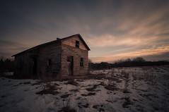 Brilliant Resilience (Explored) (Fistfulofpowder) Tags: abandoned alberta long exposure nikon d300s clouds sky sunrise