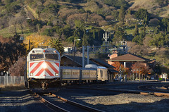 Martinez in the morning (CN Southwell) Tags: amtrak san joaquin service california f40 f40ph sc44 charger cal p
