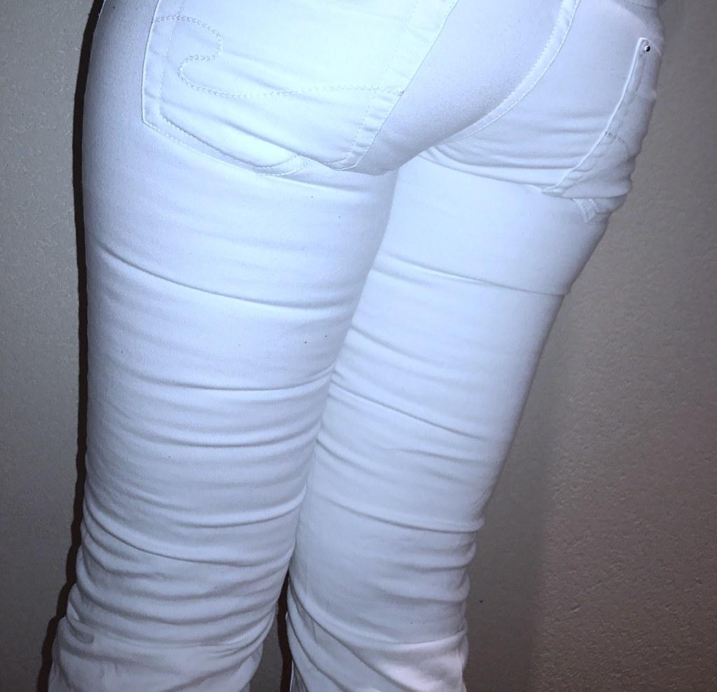 White Tight Only Jeans (Tight Jeans Lover NL) Tags: crossdresser  crossdressing crotch crossdreser