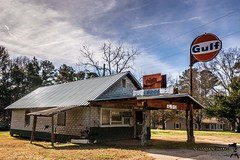 GAS, COKE, & BAR B Q (The Suss-Man (Mike)) Tags: abandoned barnhunt georgia jacksoncounty old sonyilca77m2 sussmanimaging thesussman gulf coke cocacola rust rusted rusty abandonedbuilding grocery restaurant gasstation