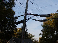 P1010110   General Telephone (GTE) Cables (RLWisegarver) Tags: piatt county history monticello illinois usa il gte general telephone verizon frontier cable pole utility