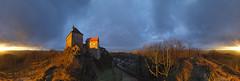Stormy sunset panorama at Hohenstein (Bernhard_Thum) Tags: bernhardthum thum hohenstein burghohenstein panorama hasselblad h6d100 hcd4824