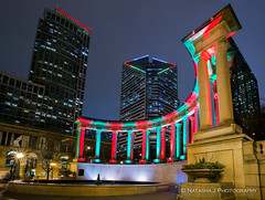 Happy Holiday Chicago! (Natasha J Photography) Tags: chicago wrigley square millennium park holiday winter christmas lights red green
