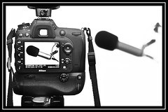 """Listen to Your Vision..."" (NikonShutterBug1) Tags: macro closeup nikond7100 macromondays spe smartphotoeditor blackandwhite rodeprocastermicrophone nikkor35mmf18gafsdx highkey"