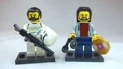 Brick Yourself Custom Lego Figures Mates as Storm Trooper & DJ