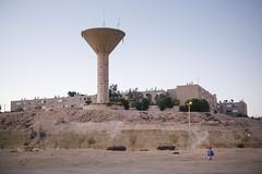 Desert Town (Nuuttipukki) Tags: israel mitspe mizpe ramon desert town negev urban architecture sand yellow concrete red evening light travel wüste wüstenstadt