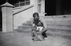 Richard Craufurd Benson in Tanzania 1958 (Bury Gardener) Tags: bw blackandwhite oldies old vintage snaps scans people folks 1950s 1958 tanzania africa
