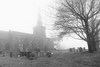 Church on a Misty Morning (MrAlbionMan) Tags: church mist blackandwhite architcture landscape building tree