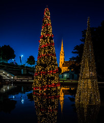 Oh-Holy-Night_DSC6458 (Mel Gray) Tags: newsouthwales newcastle christmas christmaslights nightphotography christmastrees church standrews fabuleuseenfêtesf