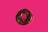 o h ! (CiaoMayonga) Tags: donut magenta oh mayonga chocolate macro candy cocoa calories sugar sweet food delicious hungry conceptualfoodphotography negative negativespace nikond5300 pink cake circle sundaylights