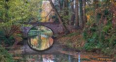 The bridge (www.petje-fotografie.nl) Tags: bronckhorst gelderland ptjefotografie water herfstkleuren kasteelbronckhorst spiegeling