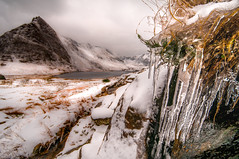 Winter wonderland... (Einir Wyn Leigh) Tags: landscape winter december frost snow icicles mountains lake wales cymru outside freeze water rural rugged walking light sky foliage blurr