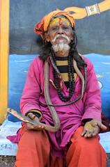 sadhu (hindu priest) with snake (sandhya.sahi) Tags: sadhu priest hindu dslr beginner photography nepal nepali snake dharan dantakali temple portrait nikond3300 nikon pilgrimage
