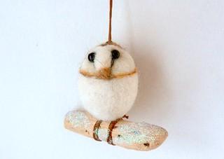barn owl tree decoration