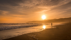 The silent end of the day (hjuengst) Tags: wilderness southafrica beach sunset reflection indianocean orange