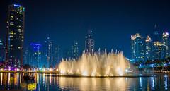 The Mid Night Show (Nishant Panigrahi) Tags: ifttt 500px night twilight lights fountain dubai scene view light show trail