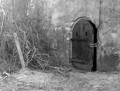 Secrets of the Locked Door (Just Reed) Tags: bw challengefactorywinner door