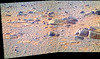Rocks and Sand Near Endeavour Crater, variant (sjrankin) Tags: 15december2017 edited nasa panorama mars opportunity endeavourcrater rocks sand colorized bands257 rgb