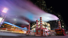 NYC Steam (dansshots) Tags: nyc newyorkcity newyork downtownnyc downtown financialdistrict broadway dansshots nikon nikond750 rokinon rokinon14mm nightphotography newyorkatnight streetscene street steam longexposure