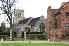 St. Etheldreda's Church (Canadian Pacific) Tags: england english great britain british hertfordshire hatfield house manor mansion stately home palace historic unitedkingdom church stetheldredas churchyard 2016aimg1844 building architecture