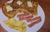 Die_Hard-0A (Guyser1) Tags: food omelette frenchtoast spam breakfast nostalgia canonpowershots95 pointandshoot