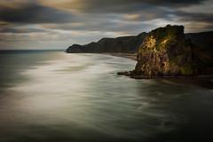 Little did I know (spannerino) Tags: newzealand piha colour longexposure landscape nikon d7100 10stop sea clouds lionrock 1855mm kitlens