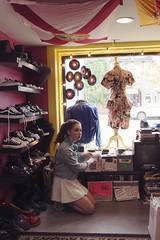 (Stephanie Erdmann) Tags: vintage records cds shoes 80s smash washington dc store record vanessa portrait