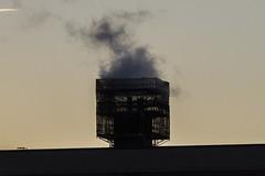 Smokestack reno (jer1961) Tags: toronto smokestack steam smoke scaffolds renos bishopmarroccothomasmerton highschool