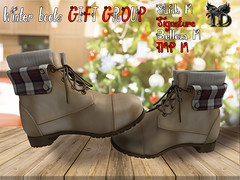 Winter Boots GIFT GROUP (TreizedDesigns) Tags: boots 10 colors hud controlled slink male signature belleza wintercame spain winter 100 mesh fit fitted