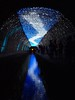 River of light (Tanabata festival, Japan) (jocelyncoblin (on & off)) Tags: japan jocelyncoblin kyoto tanabata light blue buestblue blackandcolor reflection night nightshot glow holiday festival travel water