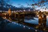 Bridge over the Garonne (Shane Jones) Tags: bridge garonne river night sky lights toulouse france water reflection panasonic lumixlx100 landscape pontsaintpierre