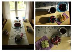 Nordic Food (K M V) Tags: summer kesä sommer sommar estate nordicfood finnishfood suomalaistaruokaa pohjoismaistaruokaa nordiskmat finländskmat gesundesessen terveellistäruokaa hälsosammat healthyfood kahvipöytämökillä aamiainen aamupala breakfast frühstück frukost petitdéjeuner marjoja berries beeren desbaies bär mustikoita mustikka vadelmia vadelma blueberries raspberries blaubeeren himbeeren blåbär hallon framboises myrtilles mirtilli lamponi voileipä sandwich macka nostalgy kotiikävä hemlängtan maldepays heimweh homesickness homesick collage kollaasi