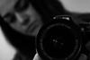 1/365 - Bokeh self portrait (EYeardley) Tags: selfportrait 365 3652018 nikon nikond3300 portrait bw monochrome bokeh shallowdof dof me mycamera 1stjanuary2018