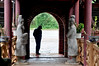 Stony stares (Roving I) Tags: handsinpockets silhouettes outlines entrances arches bricks columns stone statues warriors gardens restaurants tourism hue vietnam