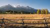 Tetons and fence at sunset (Matthew Almon Roth) Tags: tetonnationalpark grandtetons tetons wyoming