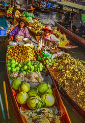 Tropical Fruits at the Floating Market (FotoGrazio) Tags: bangkok damnoendaduak floatingmarket food leisure river thai thailand waynegrazio waynesgrazio woman worldphotographer art boat boats breakfast business canal composition cooking cooks dinner eating exotic flatboat foodpreparation fotograzio fruit fruits lunch noodles people restaurant soup spice spices stirfry tourism tourist tropical umbrella vacation vegetables water women aguaprotectora