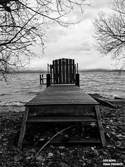 Lac Léman Switzerland (darkhopefinalproject) Tags: badge police bateaux interdiction propriété privée lac léman ponton vague bw iphone 7 filtre barrière plage suisse rolle 2017 2018 paysage art pics