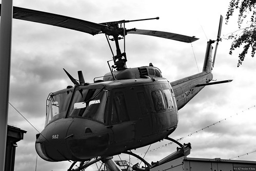 Military helicopter Bell UH-1 Iroquois