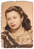 Vintage 1953 Tinted Portrait by Antonio : Mexico (CHAIN12) Tags: tijuana 48 photos photo lot batch scanned mexico mexican origin snapshot unidentified irnclsttijmexlot1953tintedchulabyantoniomexico tinted hand handtinted lips red drawn coloredin