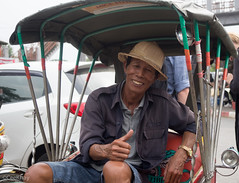 man and his rickshaw (Never.Stop.Searching.) Tags: chiangmai photography thailand people streetscenes
